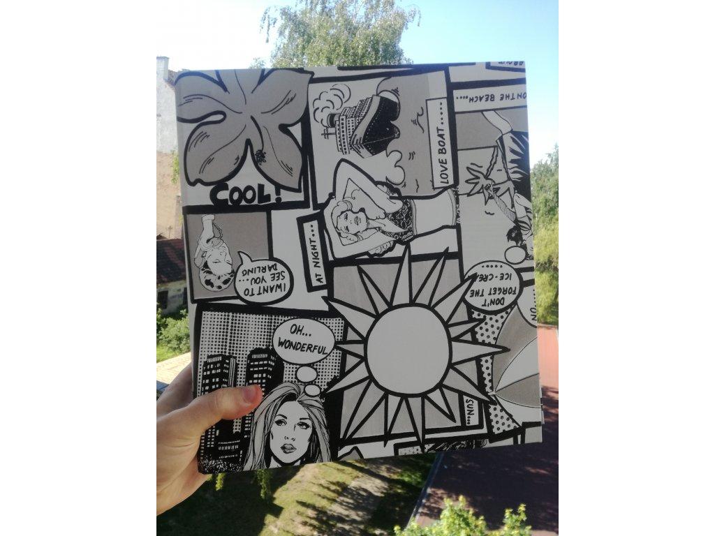 Album for postcards Pop-art - 400 postcards - 4 postcards per sheet