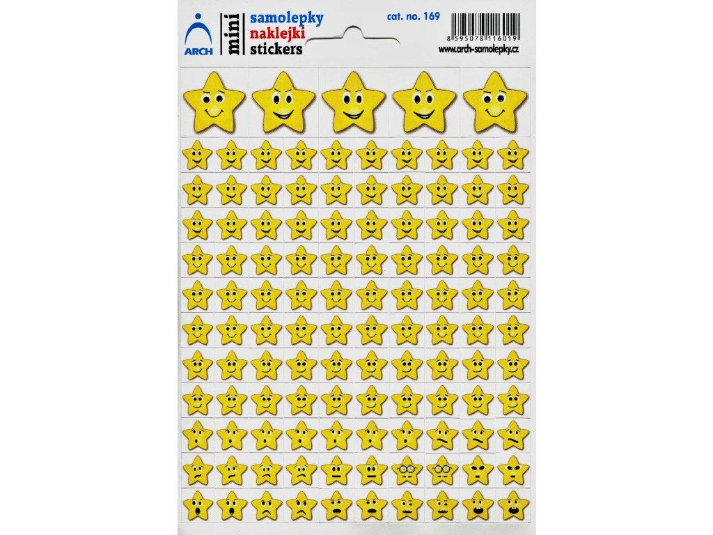 116 mini samolepky hvezdicky smajliky 11 5 x 17 cm