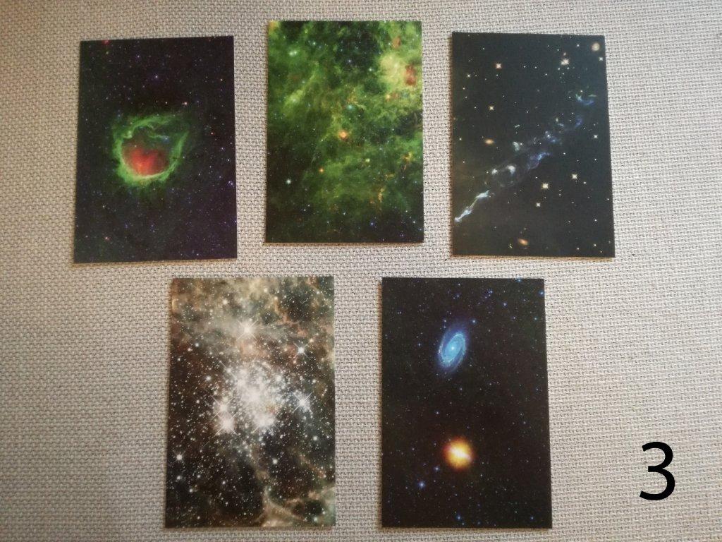 Mix 5 vesmírných pohledů - 40 variant (Sada 1