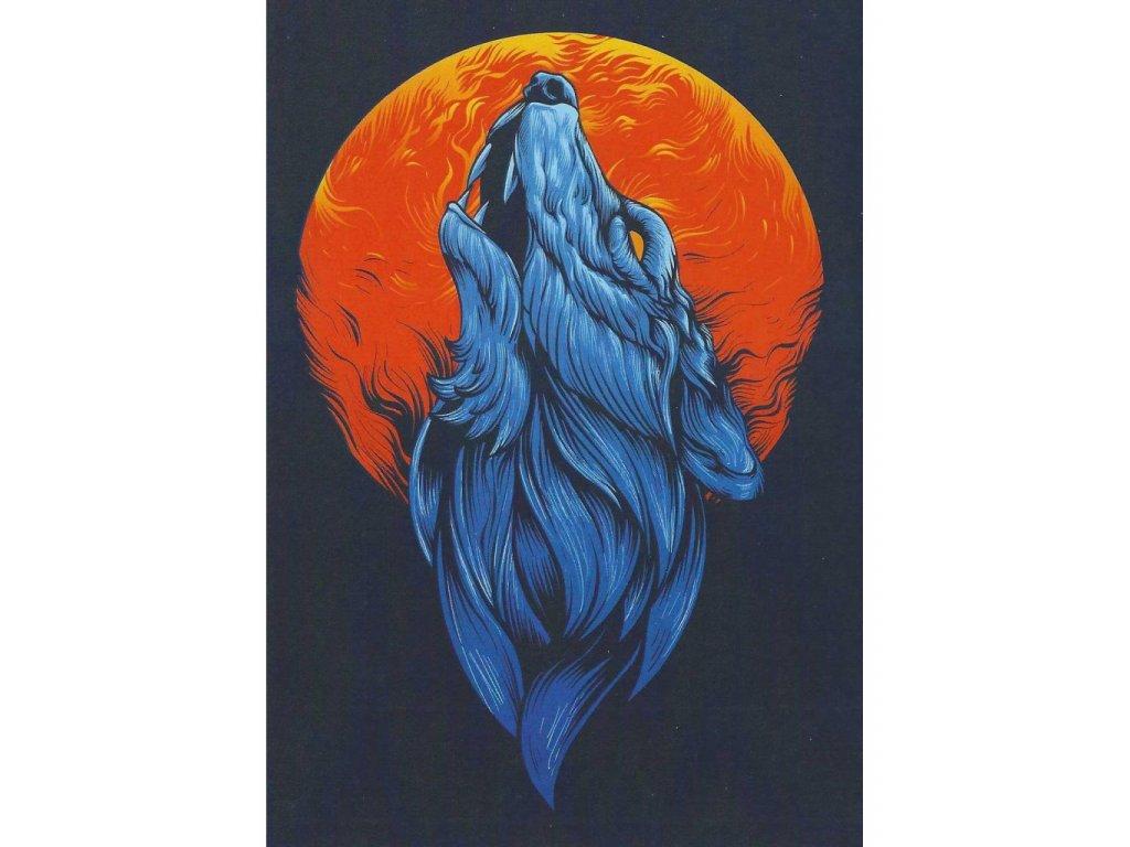 Postcard - Fantasy Wolf