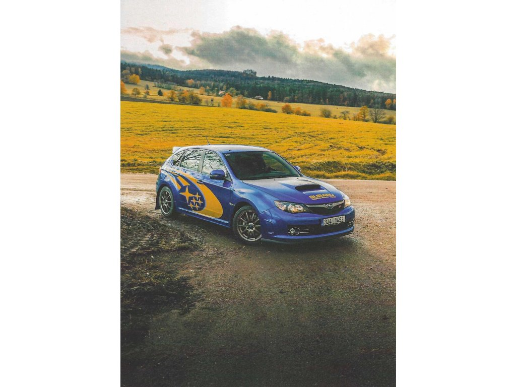 Postcard - Subaru Impreza WRX STI