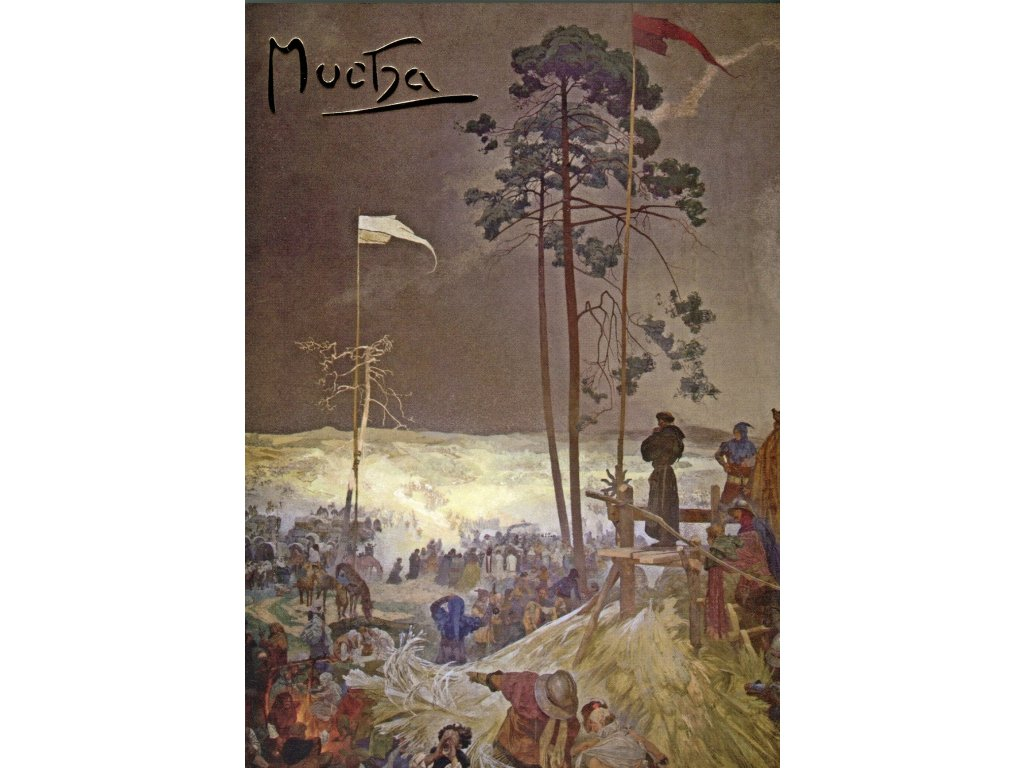 Postcard Alfons Mucha's Slav Epic: Meeting on Křížkách