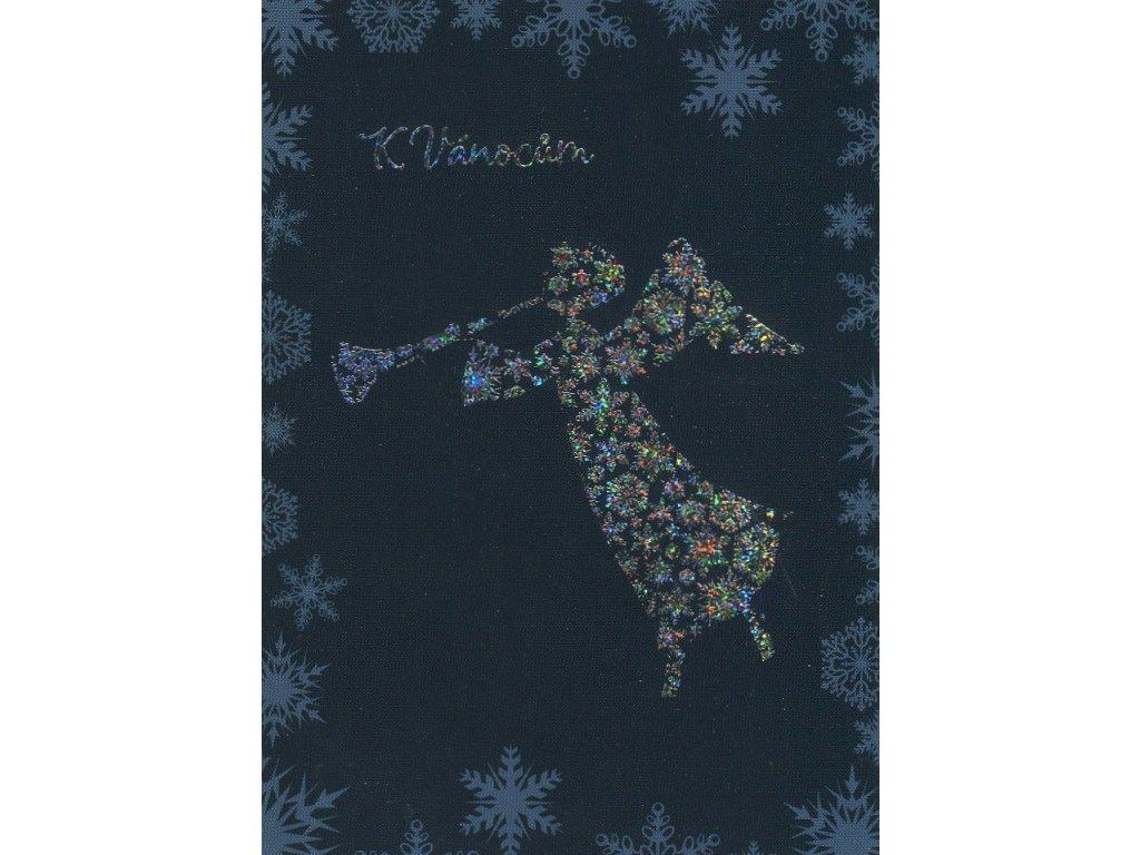 1001 pohlednice andel hrajici na klarinet