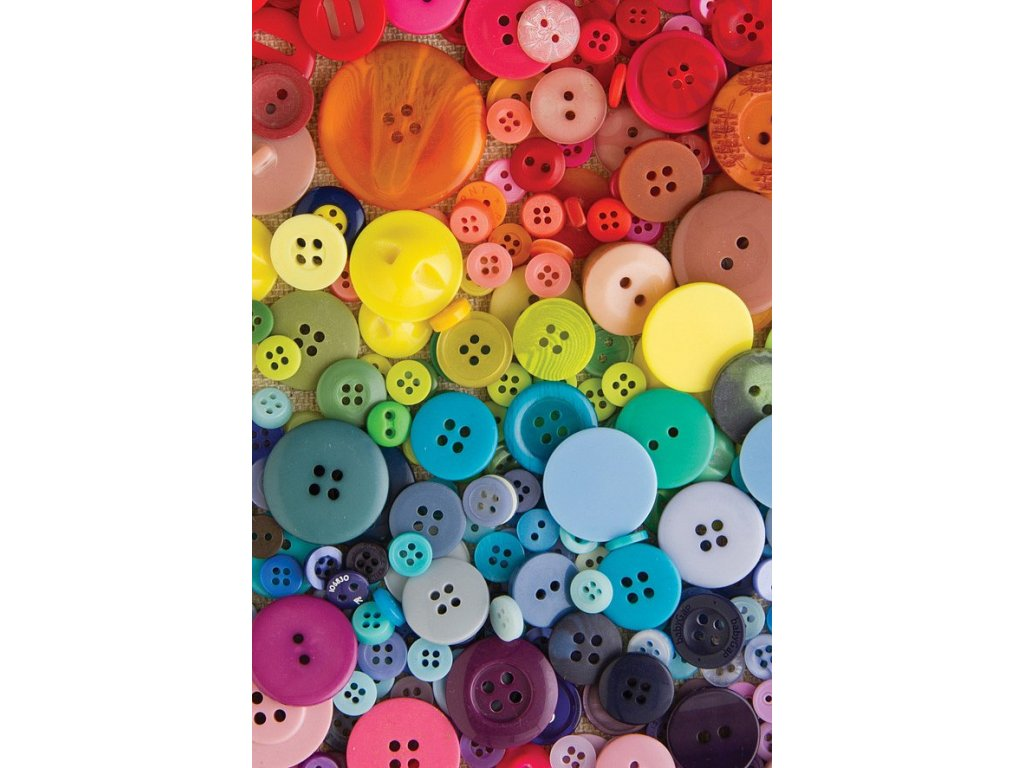 8057 2 pohlednice barevne knofliky