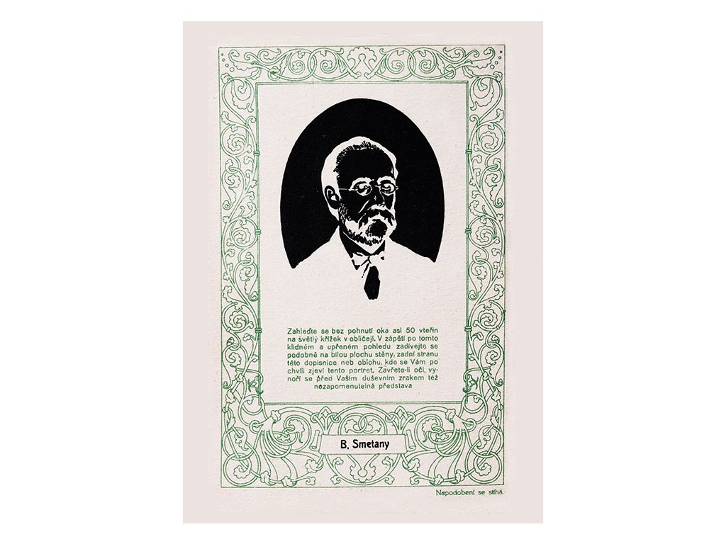 Postcard Bedrich Smetana