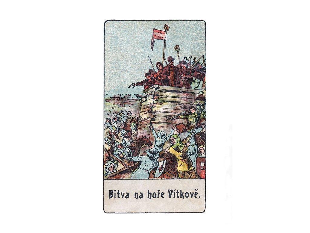 13667 3 pohlednice bitva na vitkove