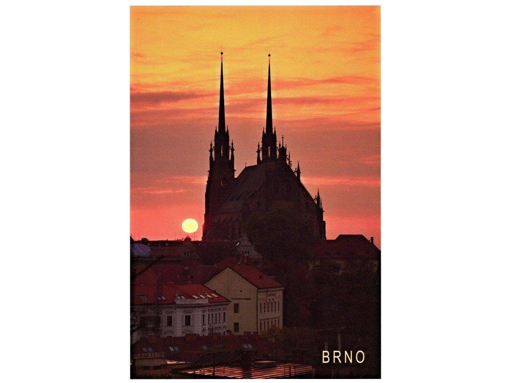 173 pohlednice brno vychod slunce