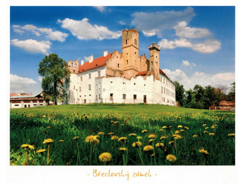 12326 2 pohlednice breclavsky zamek 12 x 17 cm