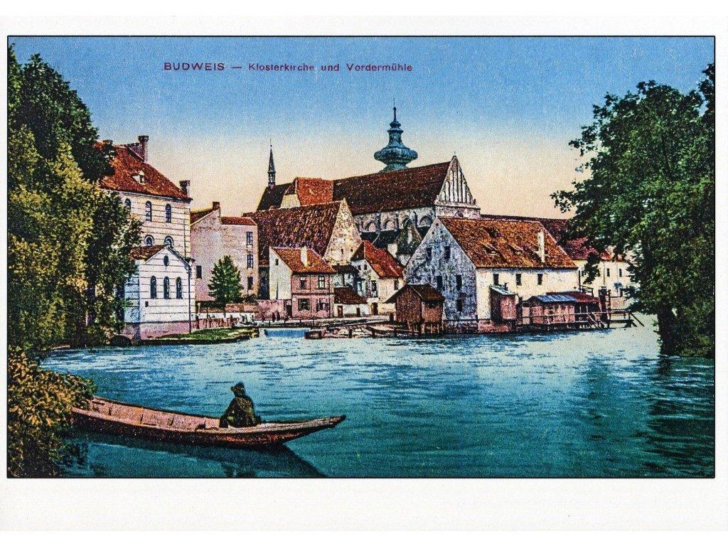 Postcard Budweis (Czech Budejovice)