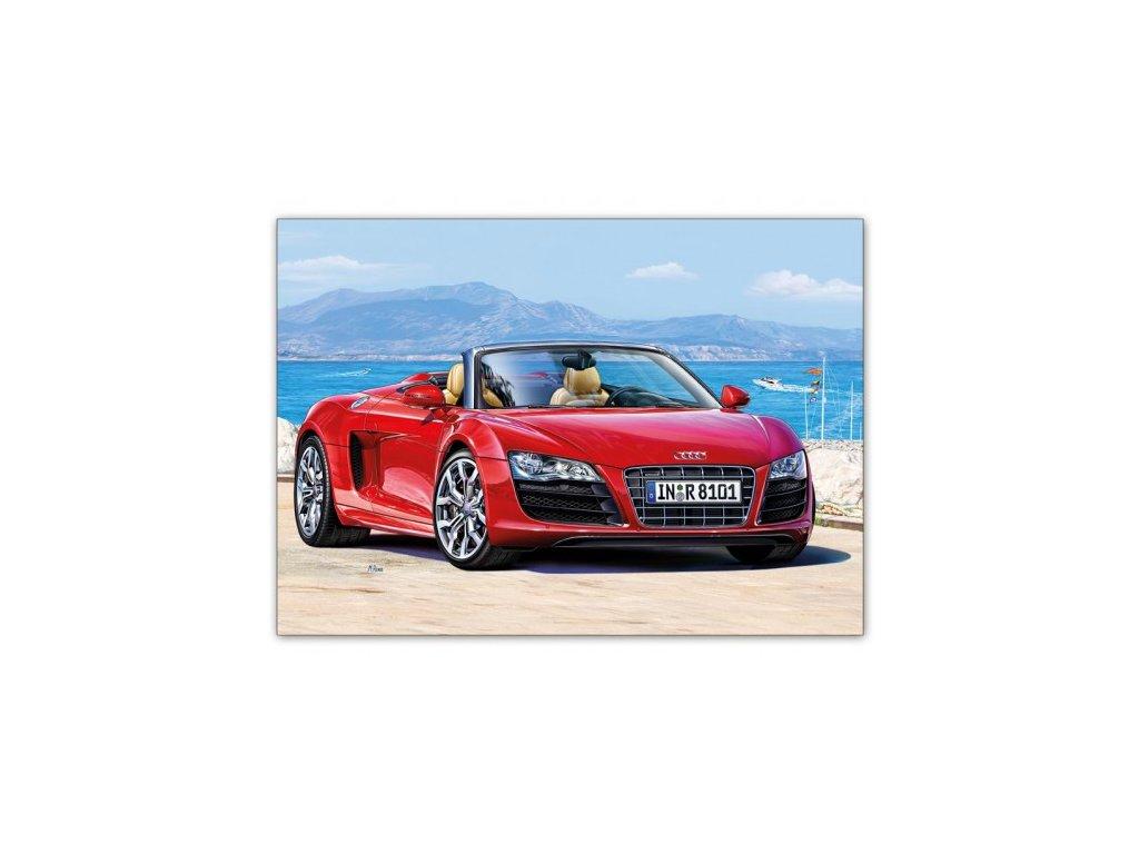 Postcard Red Audi