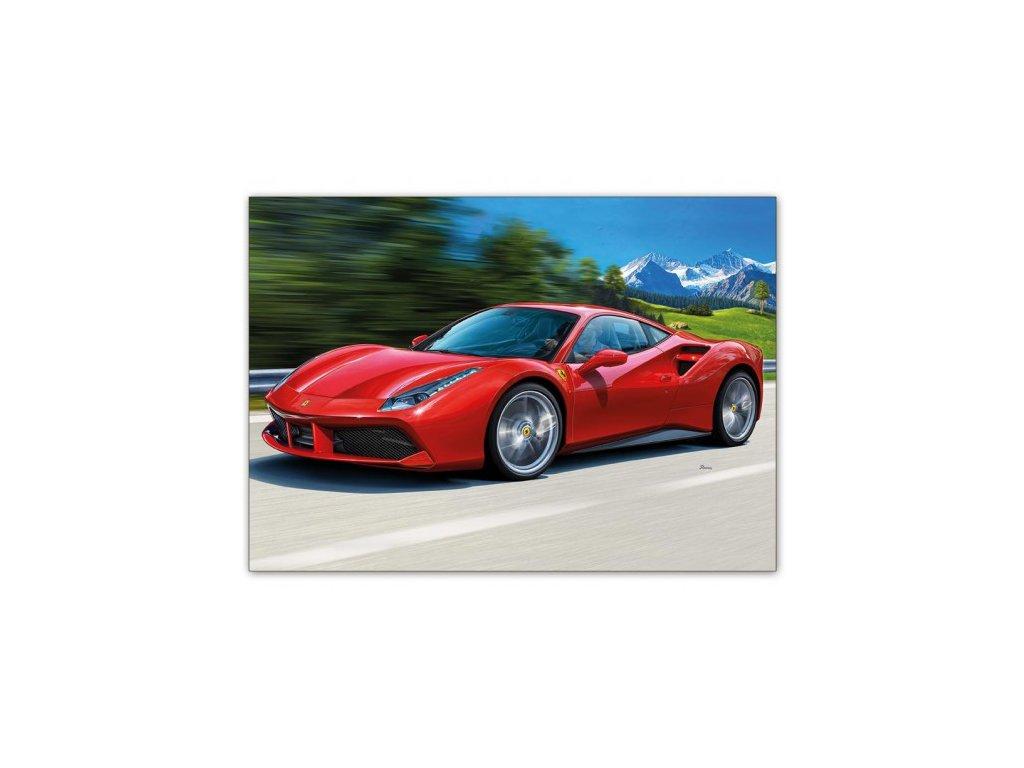 Postcard Red Ferrari