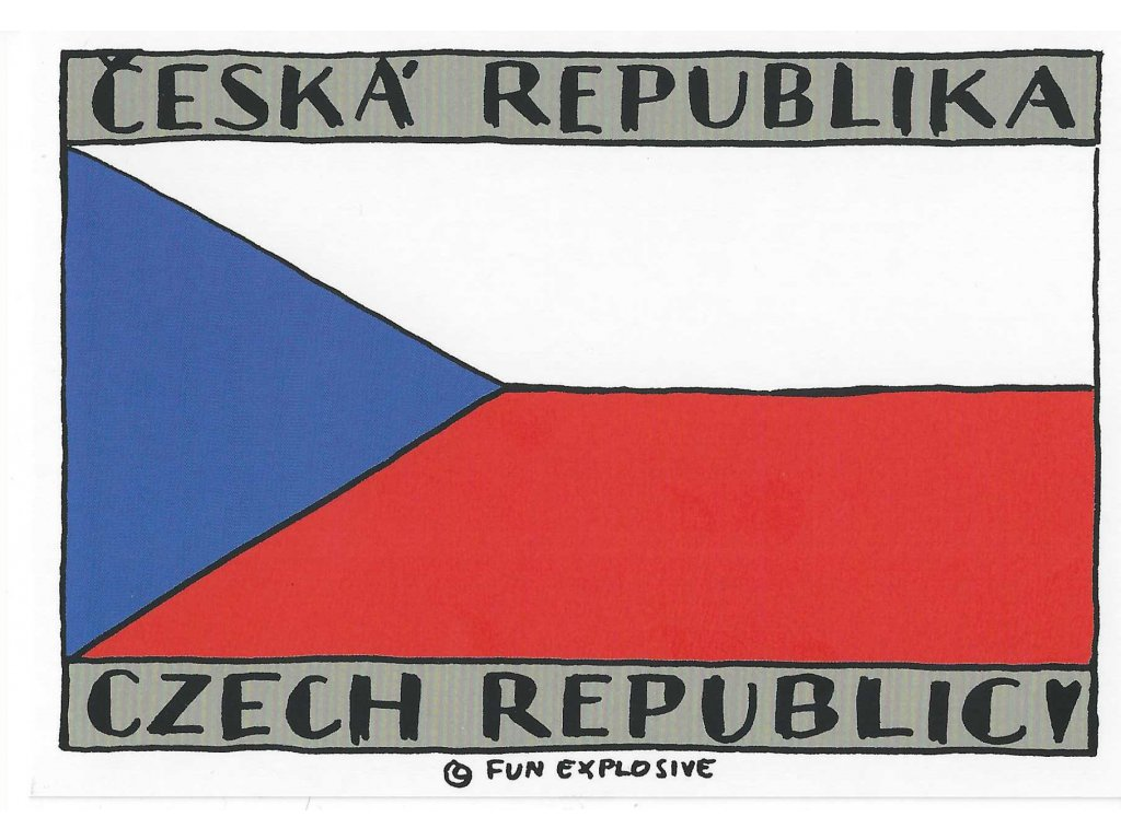 13460 3 pohlednice ceska vlajka