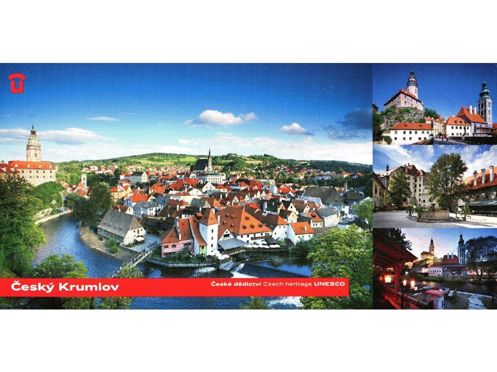 1436 2 pohlednice cesky krumlov