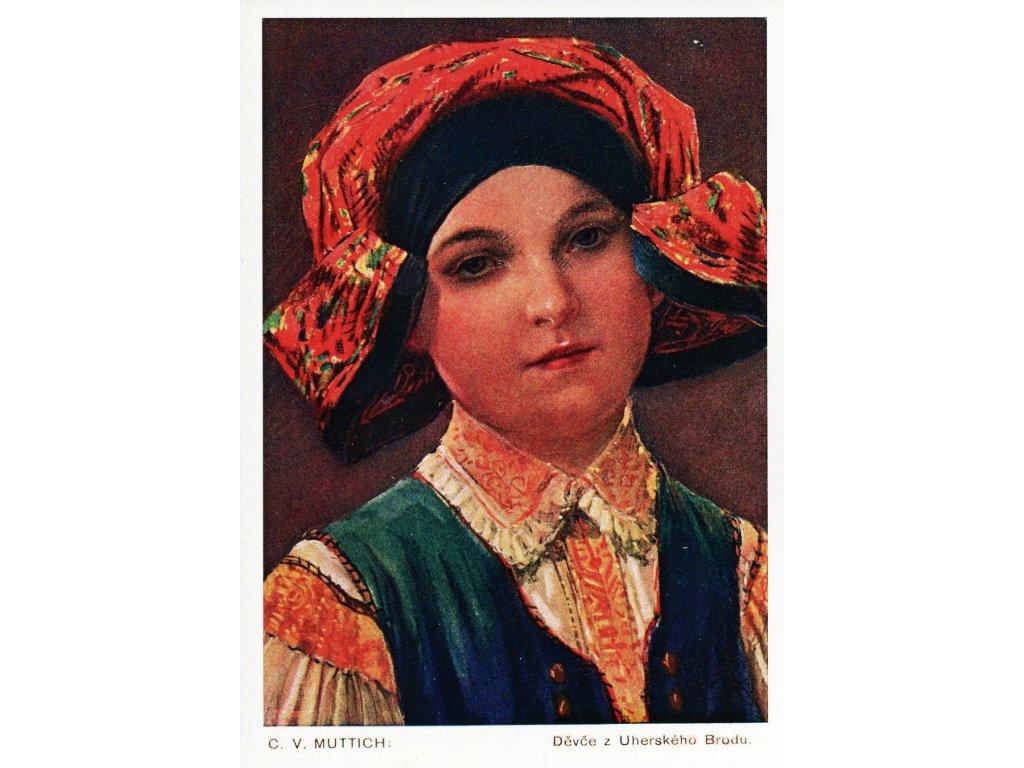 Postcard Girl from Uherský Brod (C.V. Muttich) 2