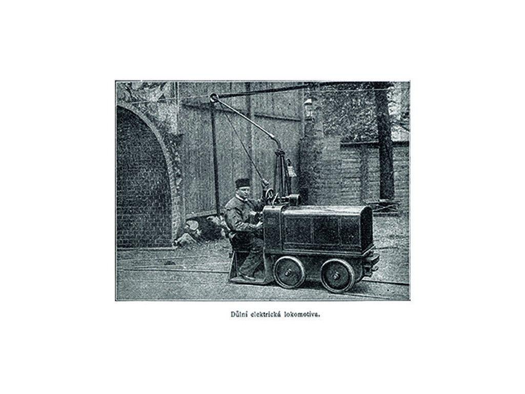 Postcards mining electric locomotive