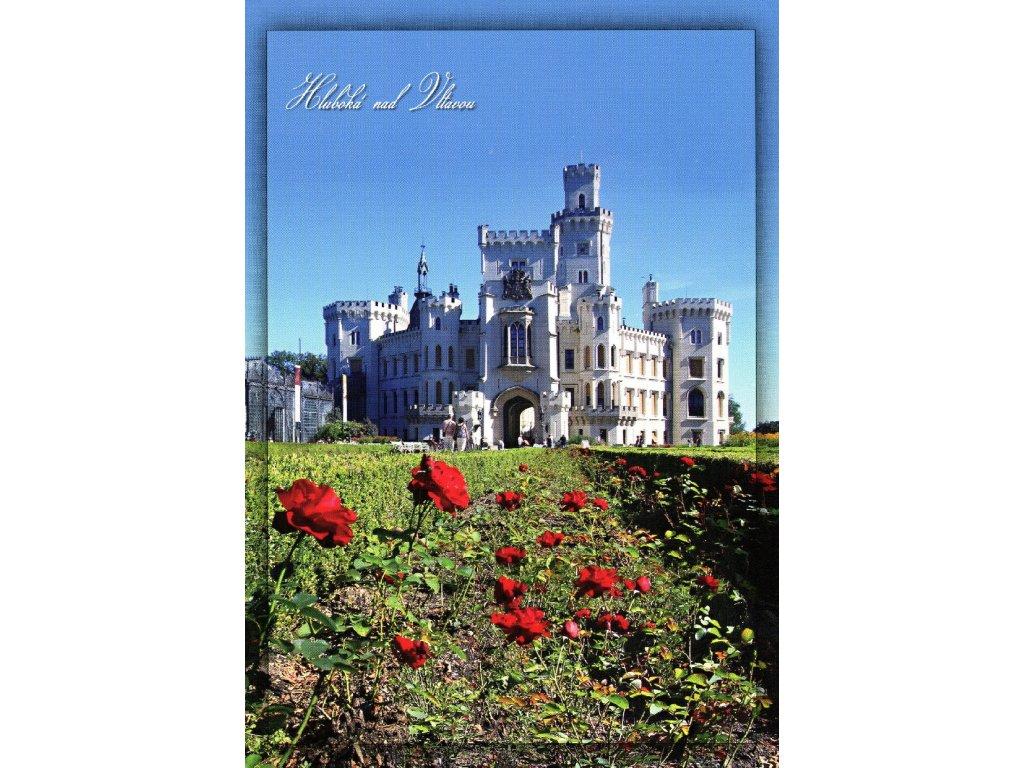 2009 2 pohlednice hluboka nad vltavou ruze