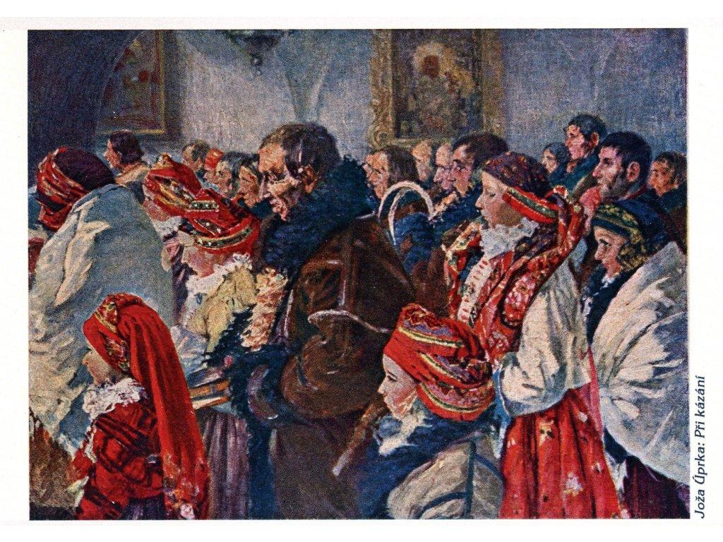 Postcards J. Úprka: When sermon