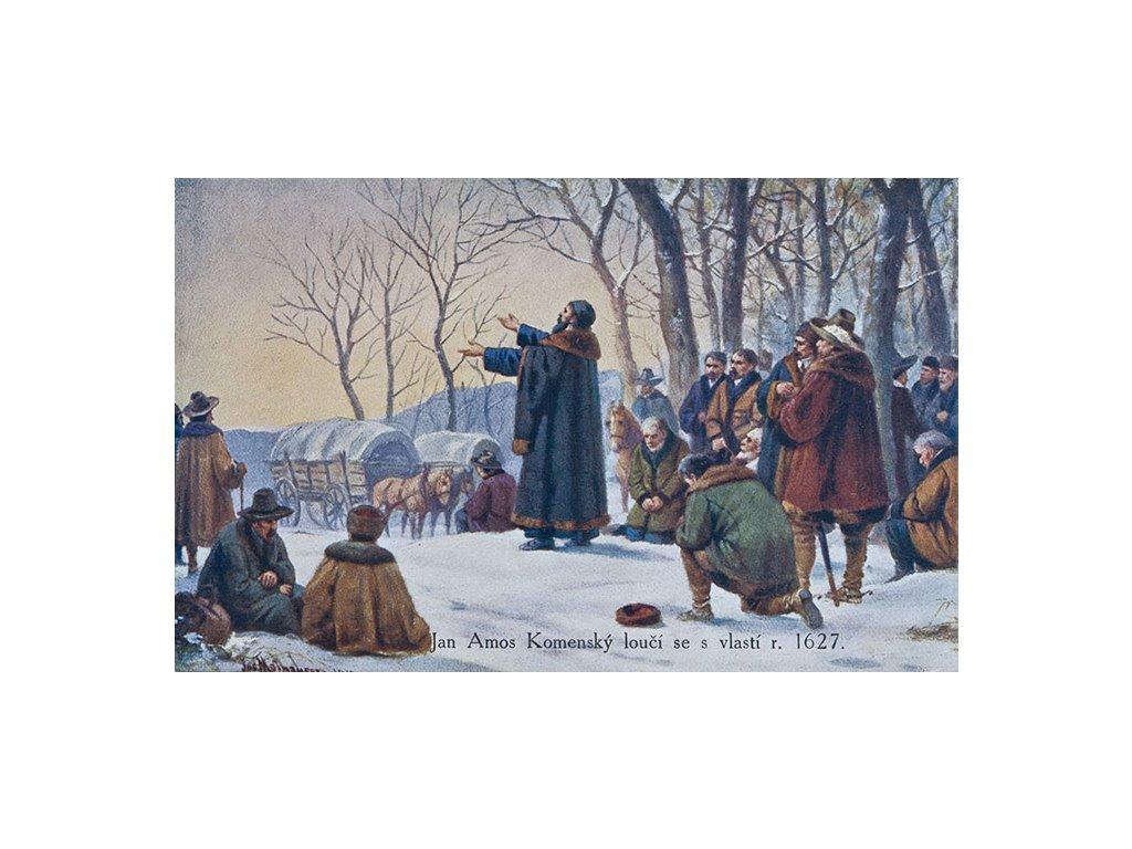 14597 3 pohlednice jan amos komensky se louci s vlasti j matthauser