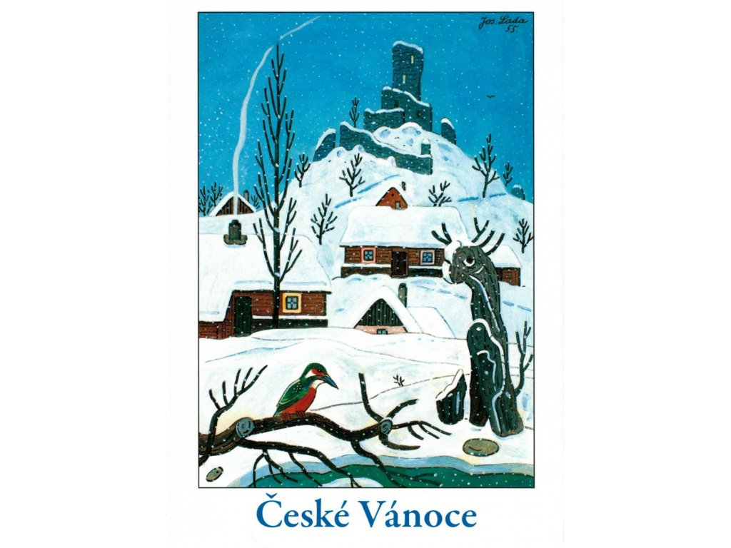 Postcards Josef Lada - Czech Christmas (Kingfisher, 1955)