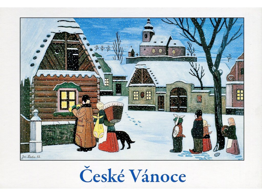 Postcards Josef Lada - Czech Christmas (Slouha chanted, 1952)