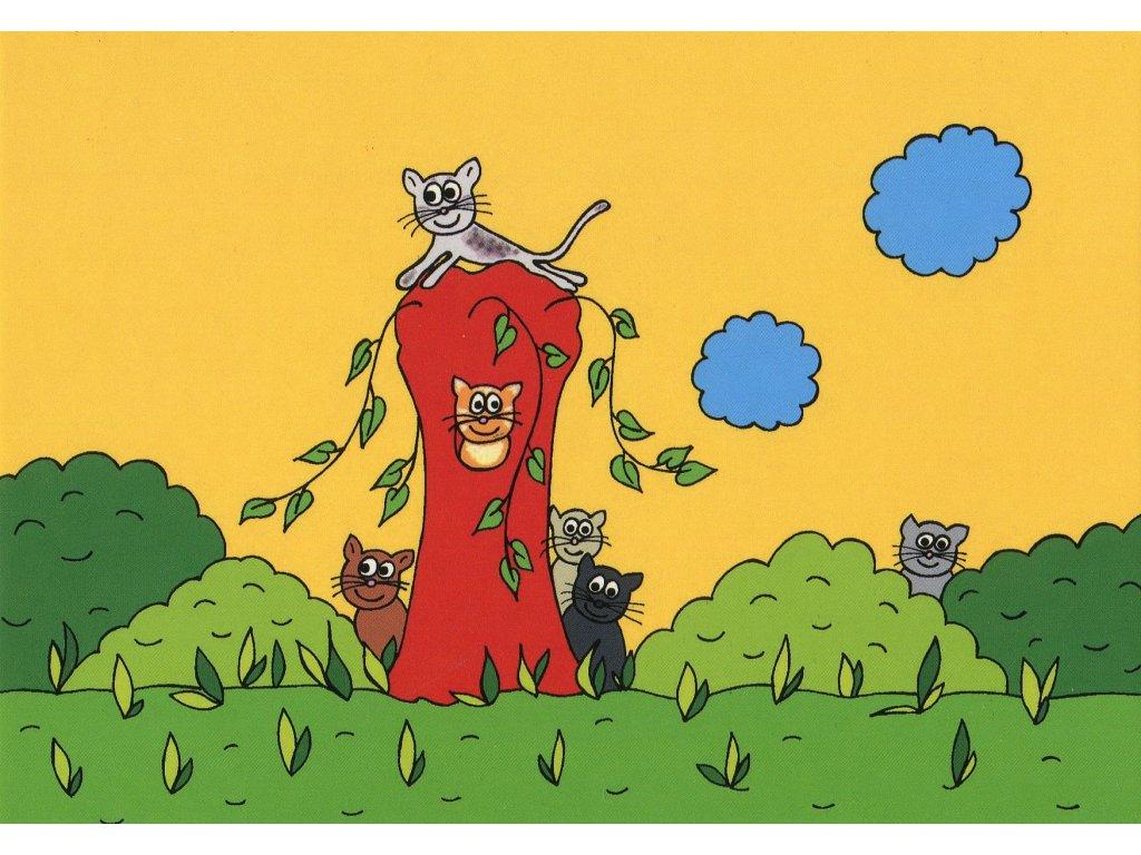 983 pohlednice kocicky na vrbicce