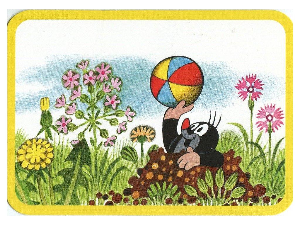 Postcard Mole with balloon
