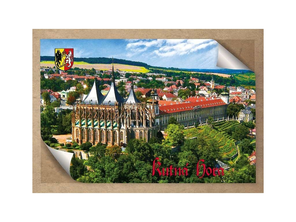 Postcard Kutna Hora, St. Barbara's Temple