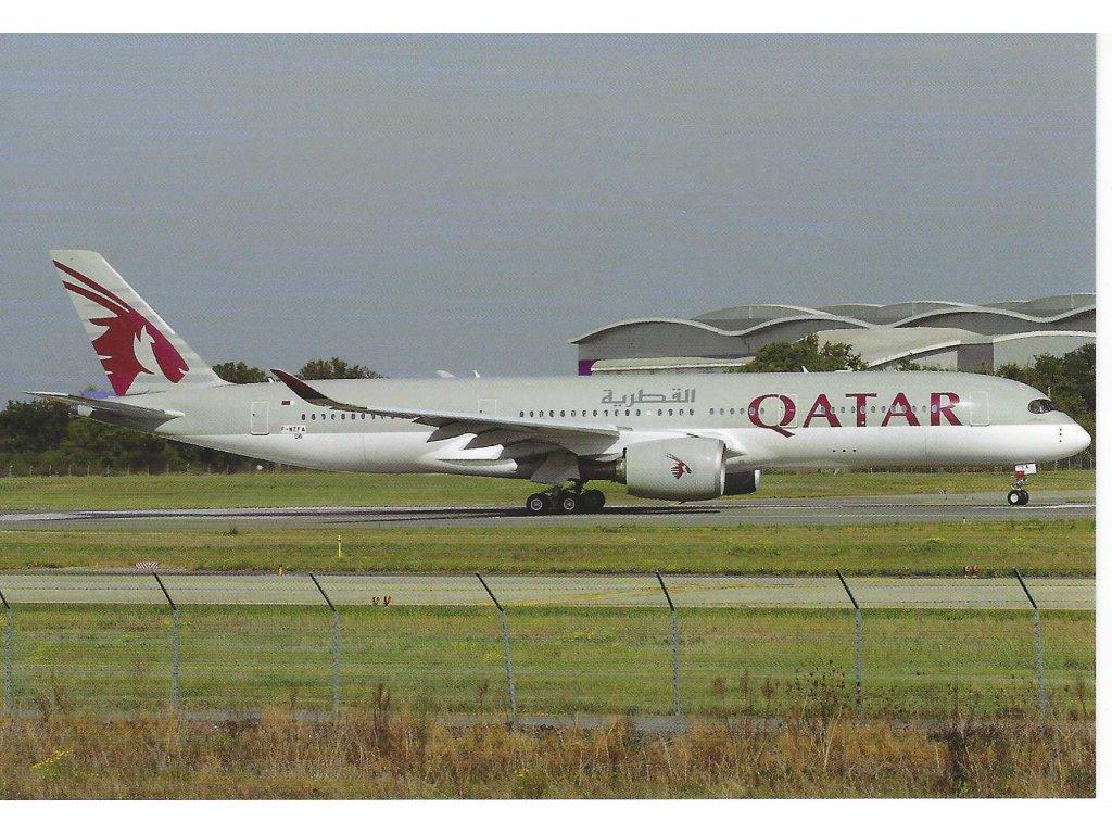 13082 3 pohlednice letadlo a350 941 qatar airways