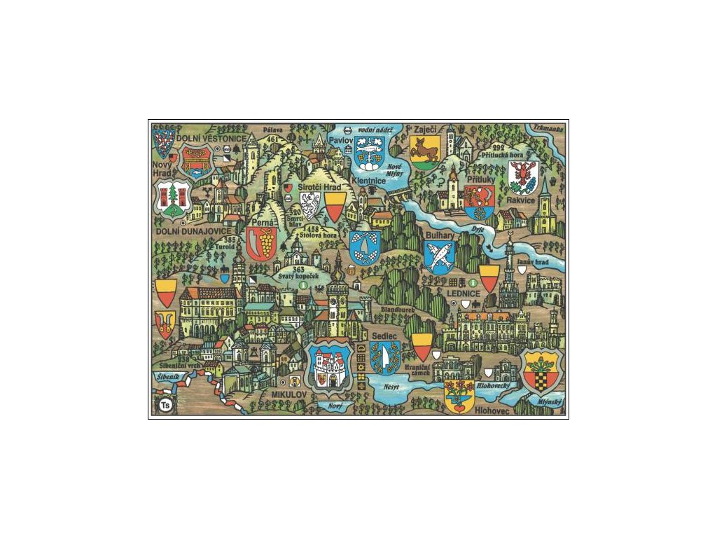 14162 4 pohlednice mikulov putovani krajinou s erby