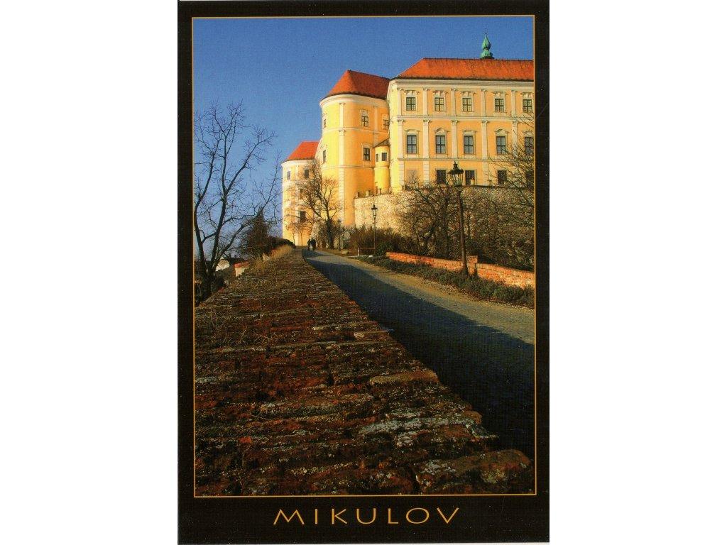 635 pohlednice mikulov zamek
