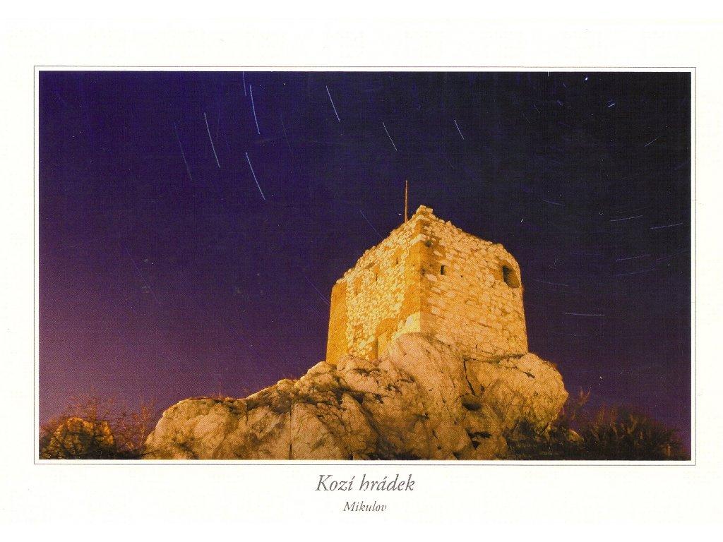 554 pohlednice mikulov kozi hradek