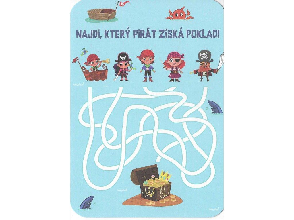 13229 2 pohlednice najdi ktery pirat ziska poklad