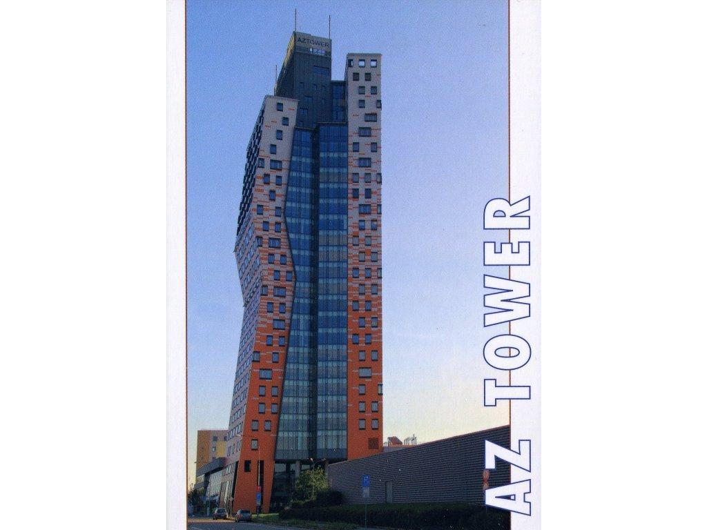 Postcard highest Czech building AZ Tower