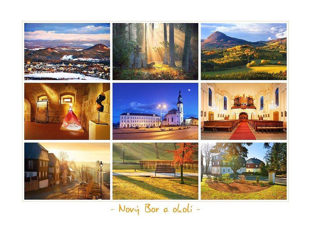 1334 pohlednice novy bor a okoli