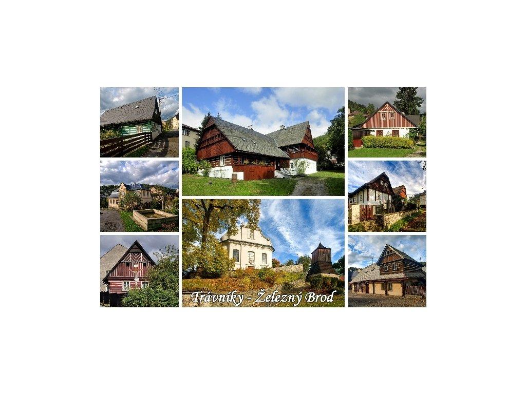 11486 3 pohlednice pamatkova rezervace travniky zelezny brod