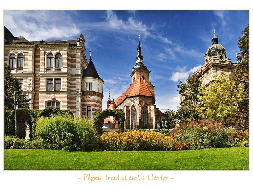 1307 pohlednice plzen frantiskansky klaster