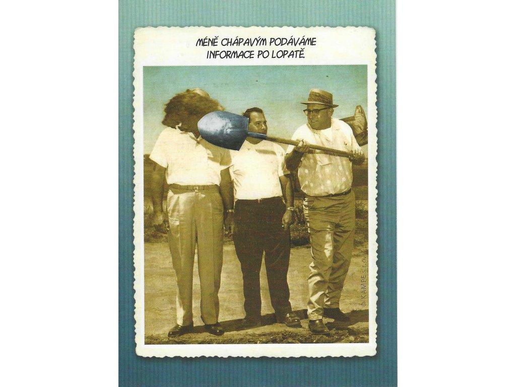 Postcard The shovel