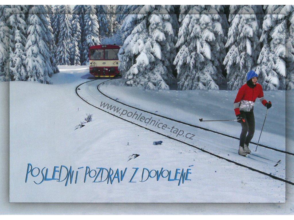 6020 3 pohlednice posledni pozdrav z dovolene lyzar