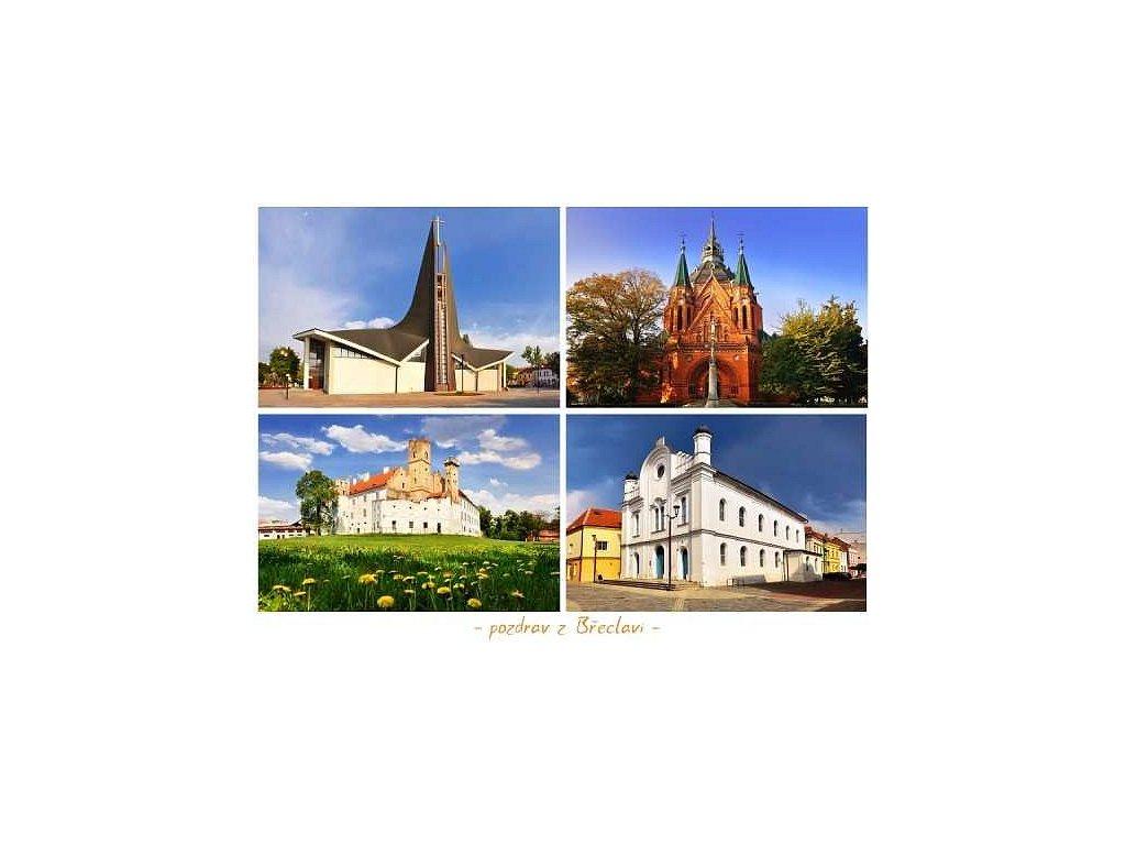 821 2 pohlednice pozdrav z breclavi 10 x 15 cm