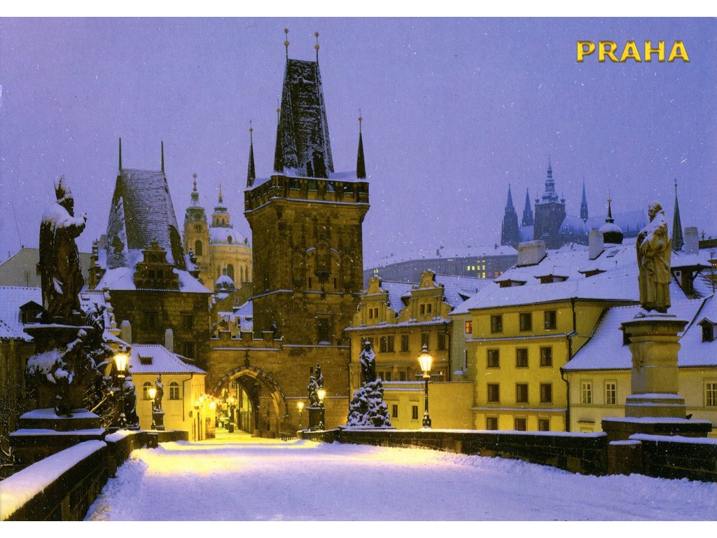 884 pohlednice praha