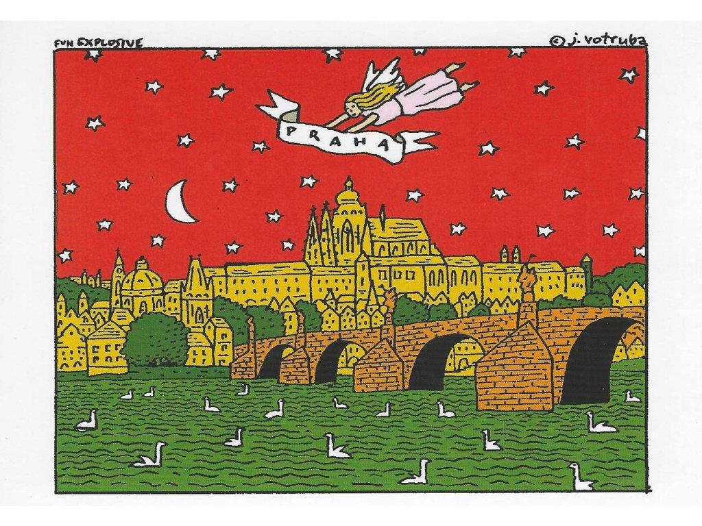 15965 3 pohlednice praha andel nad prahou