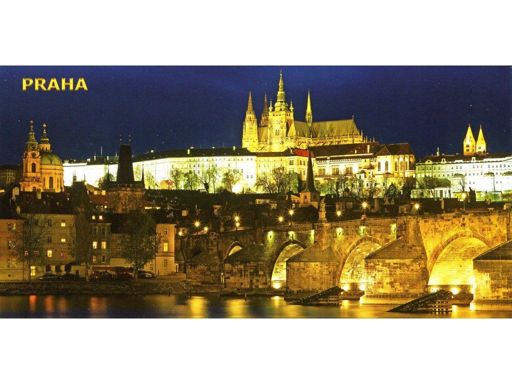 164 pohlednice praha hrad a karluv most siroka