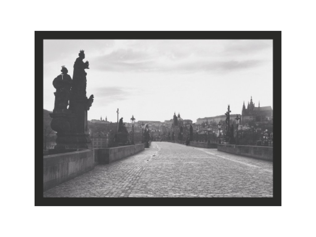 13376 3 pohlednice praha karluv most