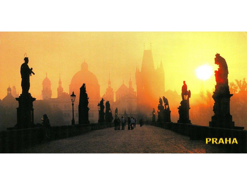 161 pohlednice praha karluv most siroka