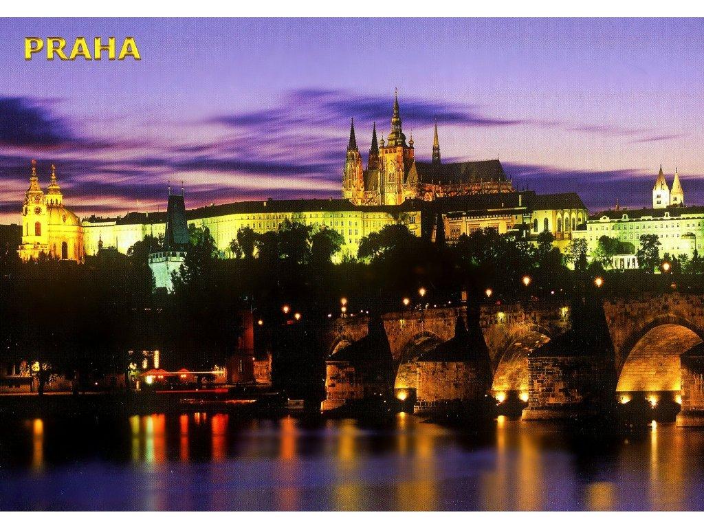 155 pohlednice praha prazsky hrad a karluv most 17x12 cm