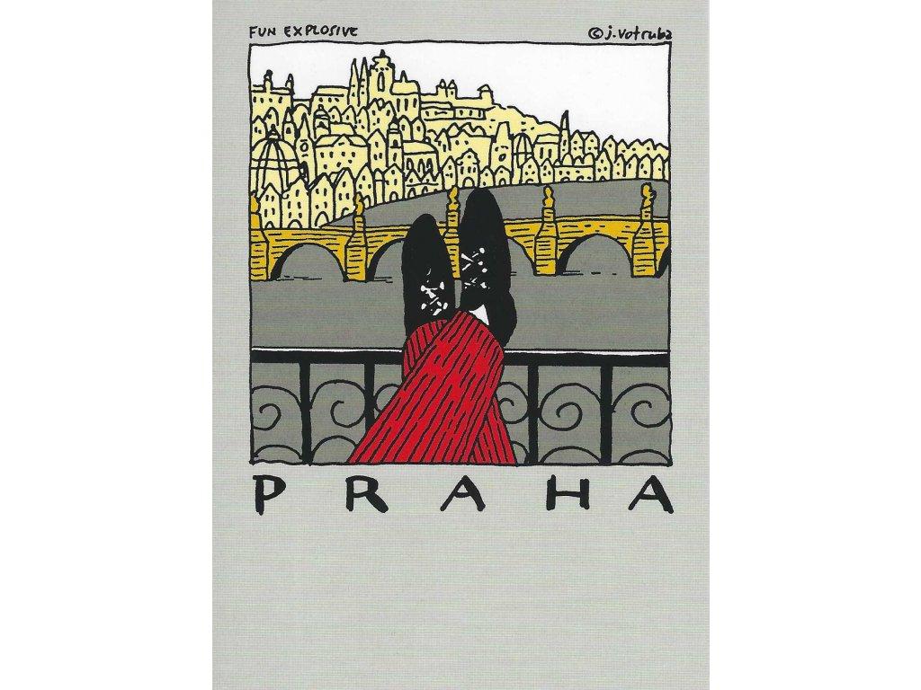 14282 2 pohlednice praha v pohode