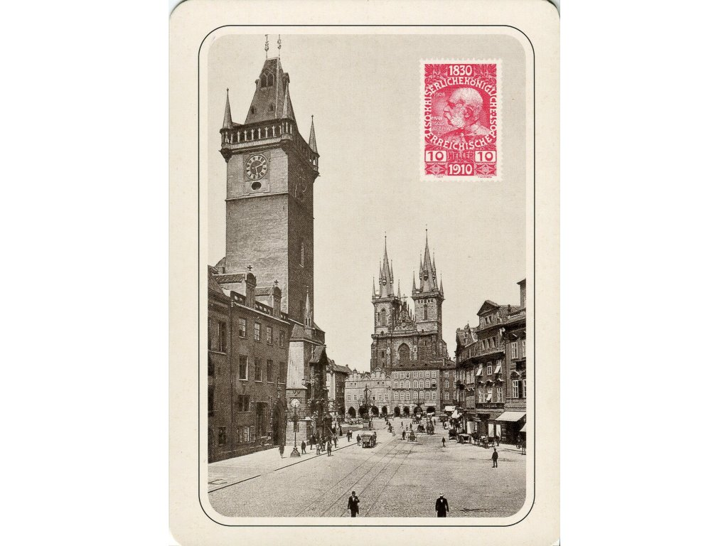 4310 2 pohlednice praha stare mesto roku 1900