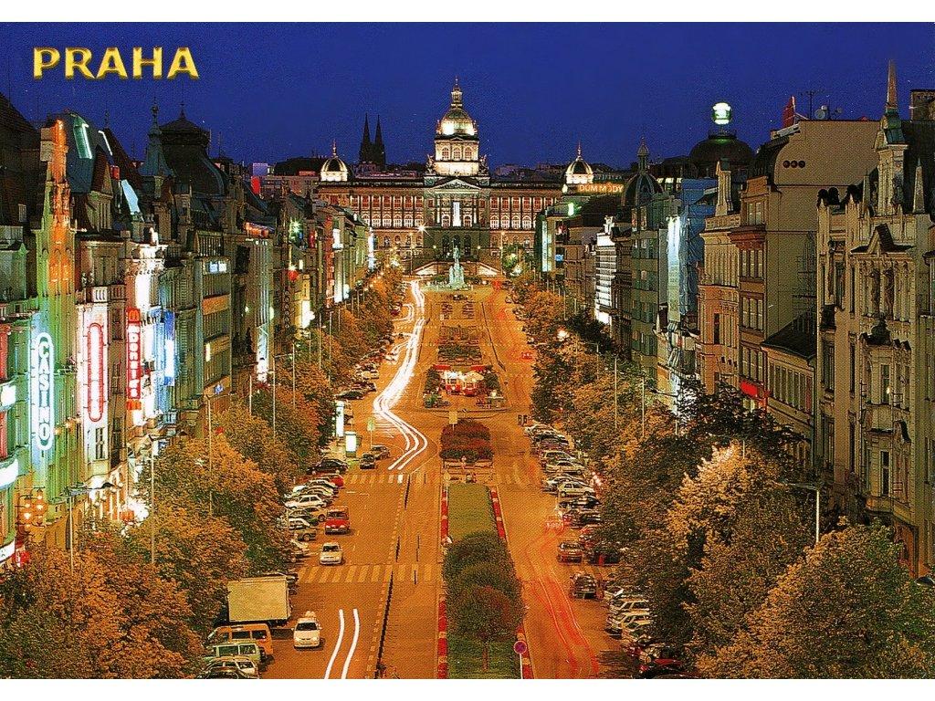 Postcard Prague, Wenceslas Square