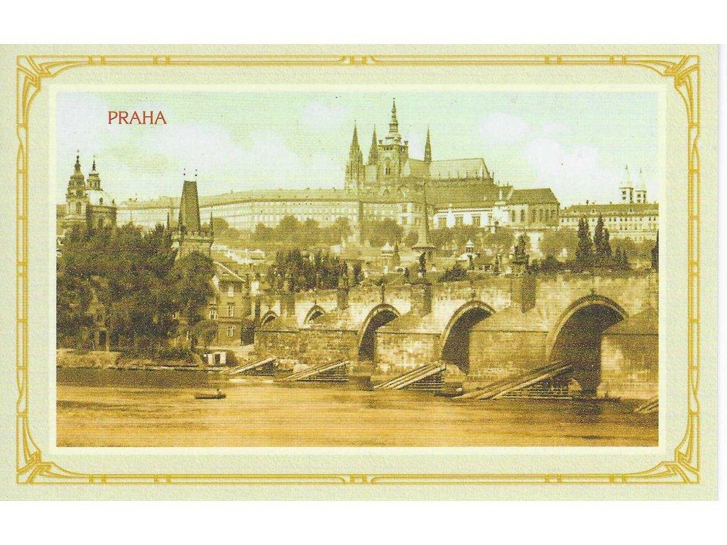 14429 3 pohlednice prazsky hrad a karluv most