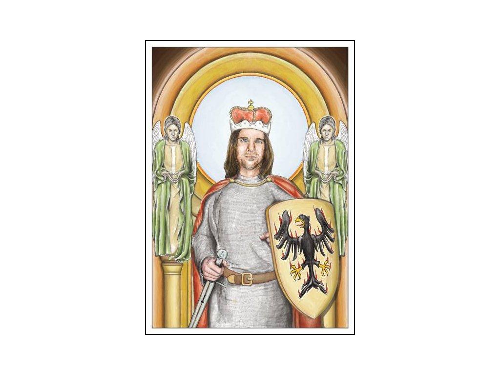 14141 2 pohlednice svaty vaclav
